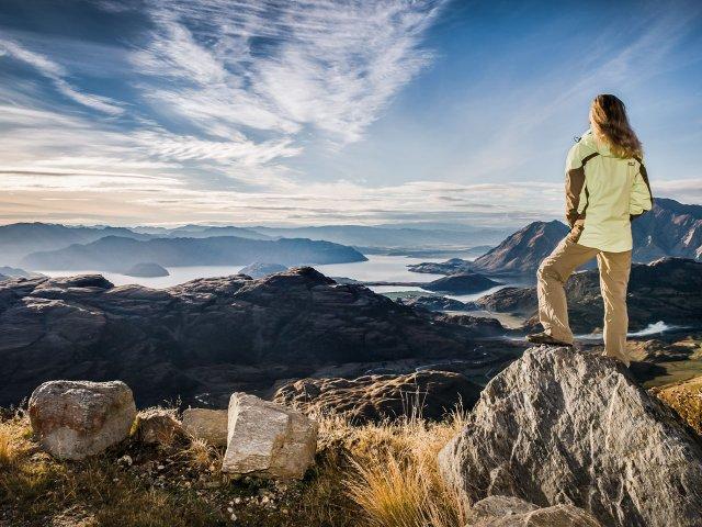 Blick über die Neuseeländischen Alpen der Südinsel