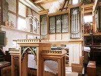 Die Orgel in der Werkstatt