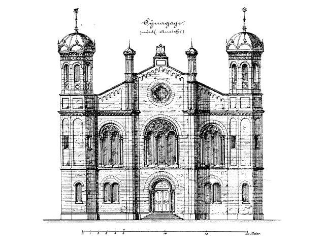 Synagoge Friedrichstraße (Wilhelm Eduard Köhler/Stephan Braden) 1873–76