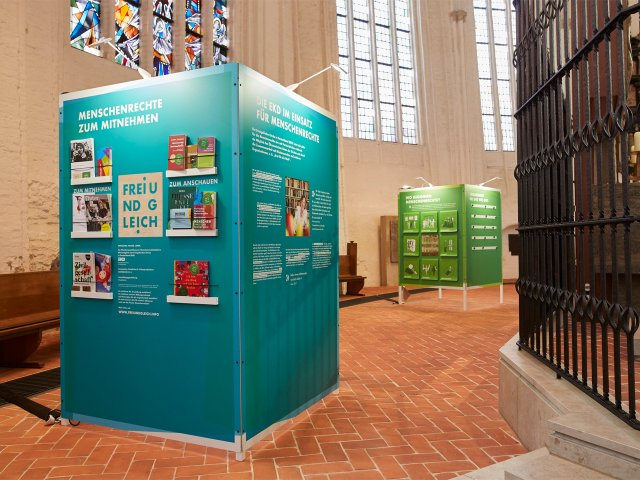 Ausstellung zum Thema Menschenrechte