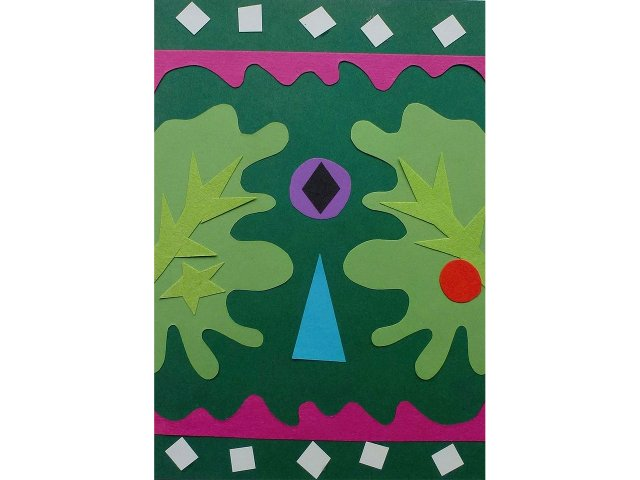 Papierschnitt (farbig)
