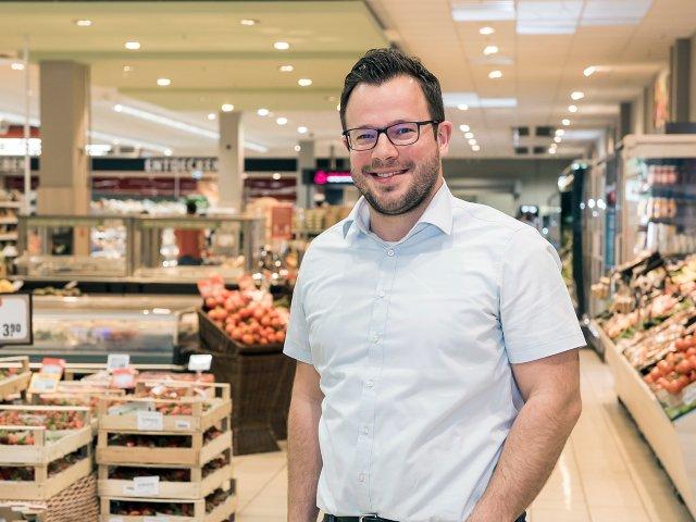 Inhaber des Rewe-Marktes Michael Weisbrod