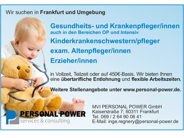 Personal Power Stellenanzeige