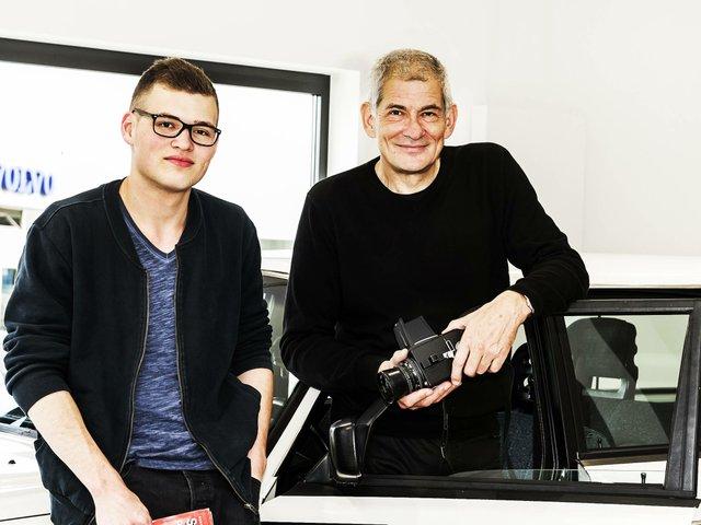 Fotograf Christoph Rau (re.) und Sohn Eisel