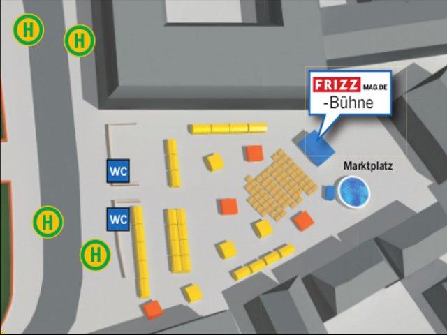 Shlossgrabenfest 2017 - Lageplan Marktplatz