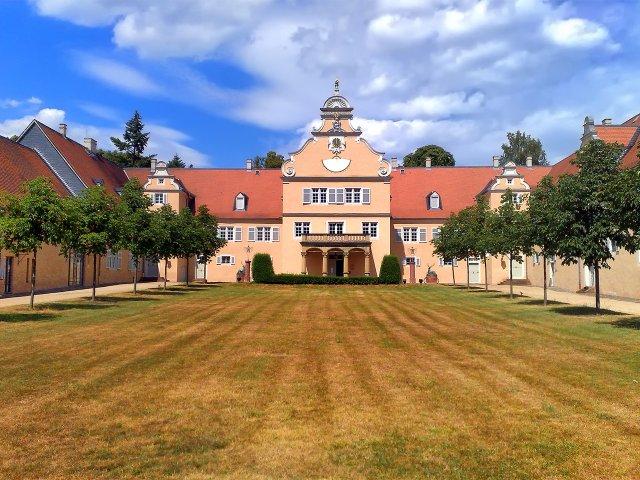 Innenhof des Jagdschloss Kranichstein bei Darmstadt